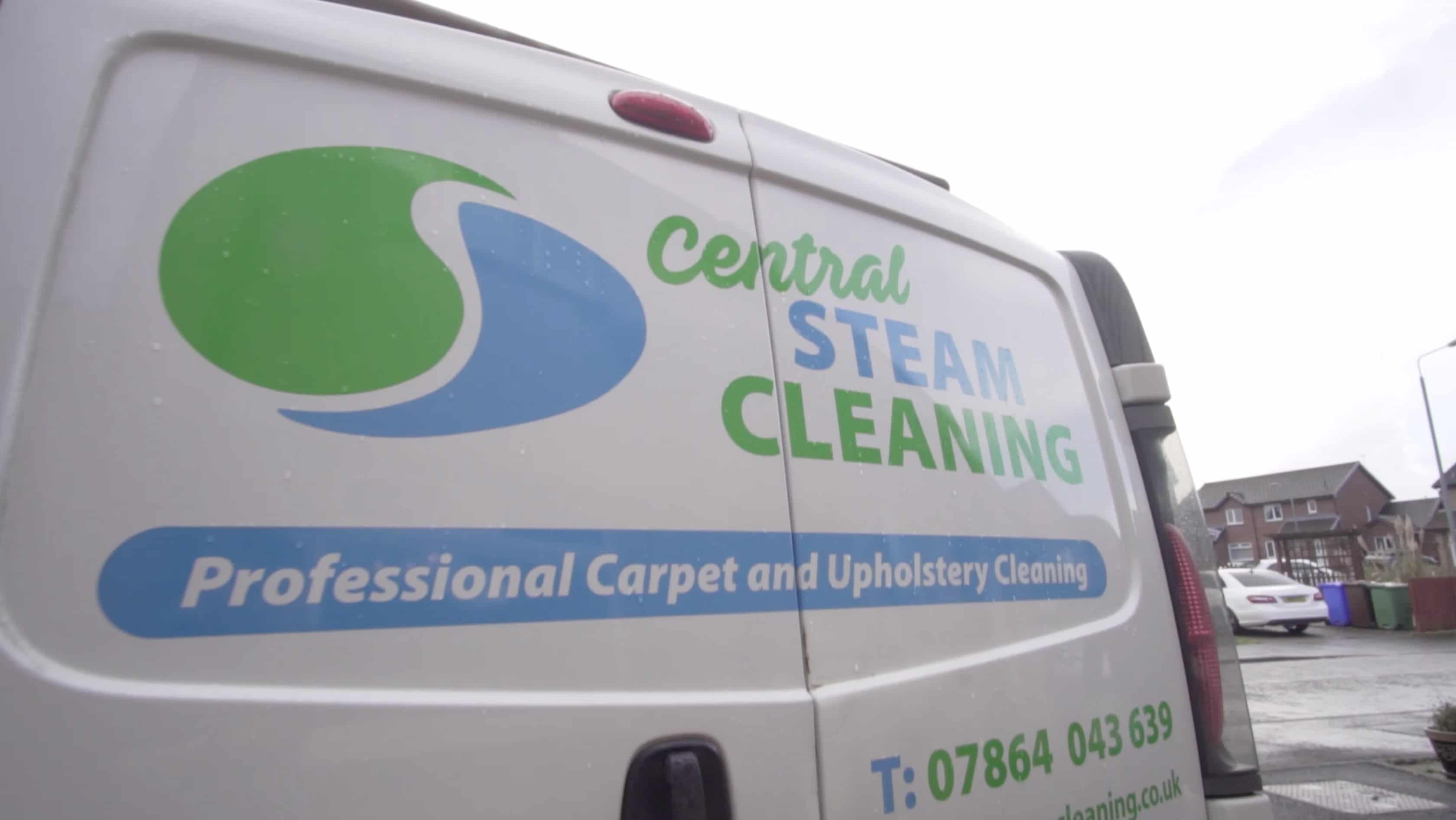 Carpet Cleaner Stirling back of van Central Steam Cleaning
